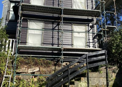 Exterior Paint House on a Slope